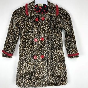 Little Girl's Leopard Jacket size 5  Too cute NWT